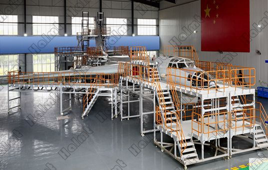 Militery Aircraft Maintenance Dock